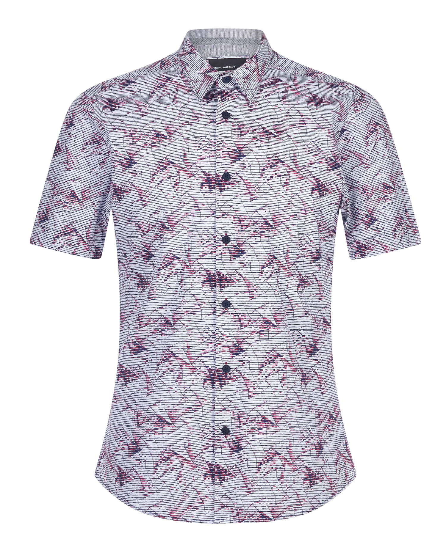 Slim Fit Printed Cotton Short Sleeve Shirt