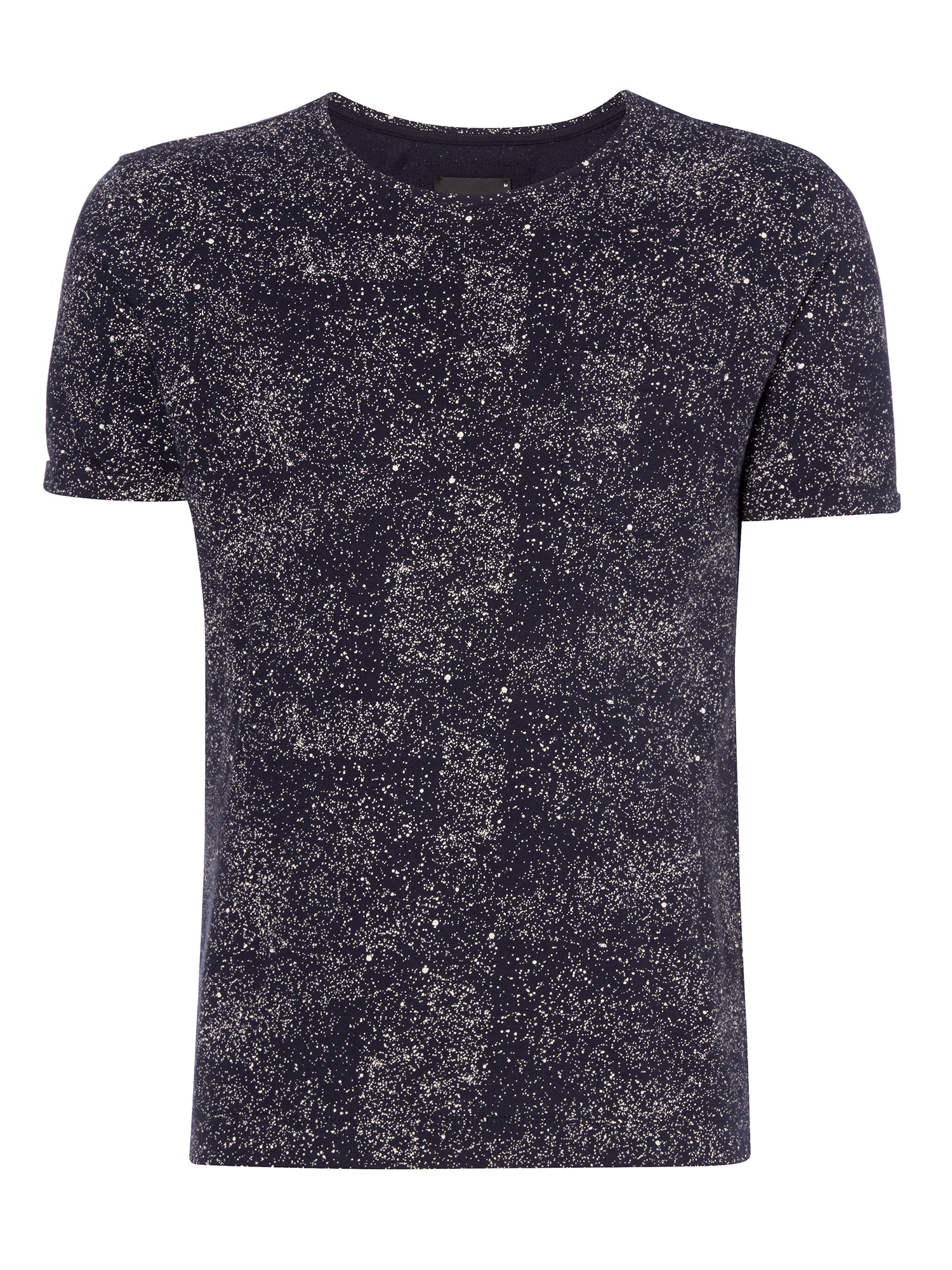 Tapered fit printed cotton t-shirt