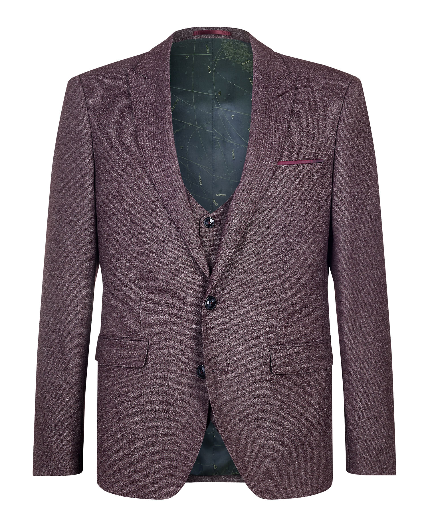 X-Slim Fit Wool-Blend Stretch 3 Piece Suit