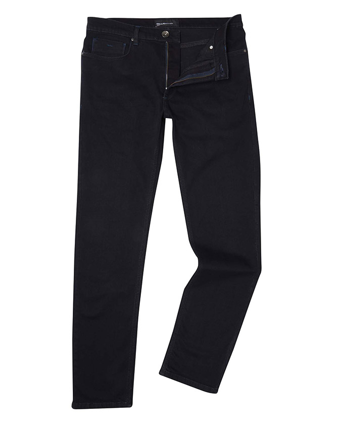 Slim Leg Indigo Stretch-Denim Jean