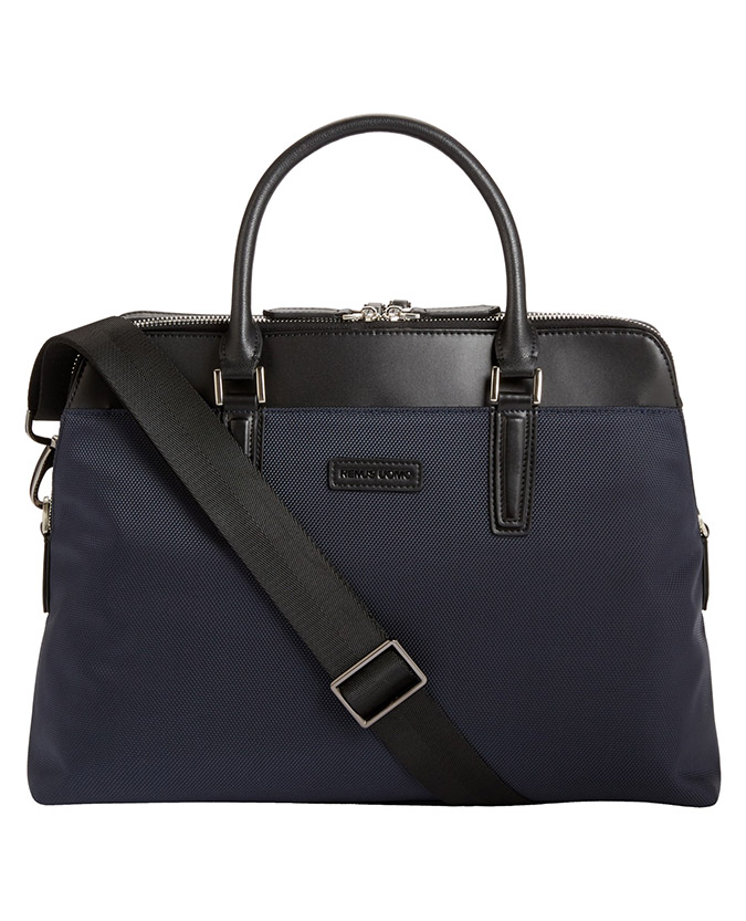Leather-Trimmed Briefcase