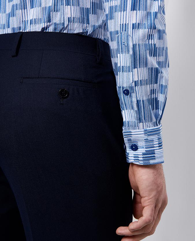 Slim Fit Printed Cotton- Stretch Shirt