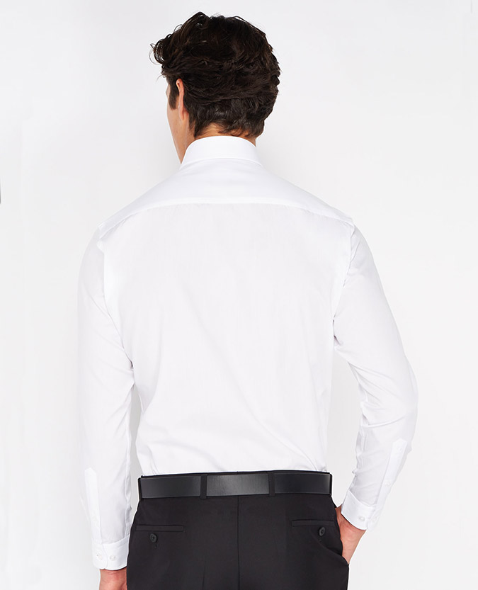 Tapered Fit Plain Shirt