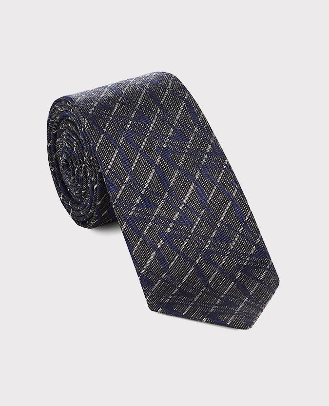 Marble-Stripe Cotton-Silk Narrow Tie