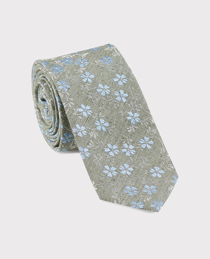 Cotton-Silk Floral Tie