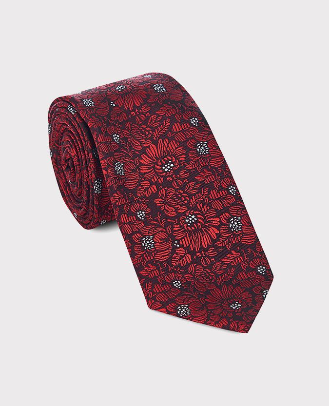 Pure Silk Floral Narrow Tie
