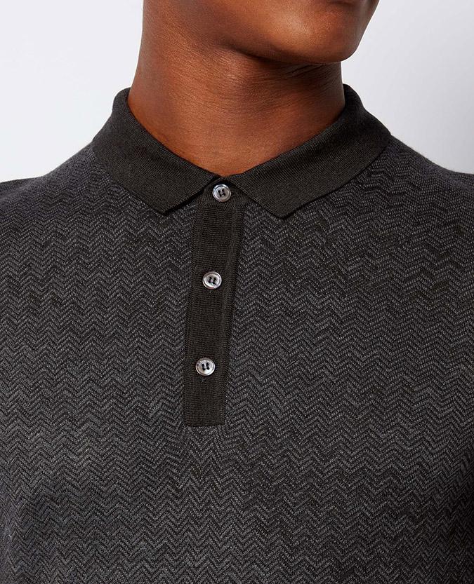 Slim Fit Merino Wool-Blend Polo Shirt