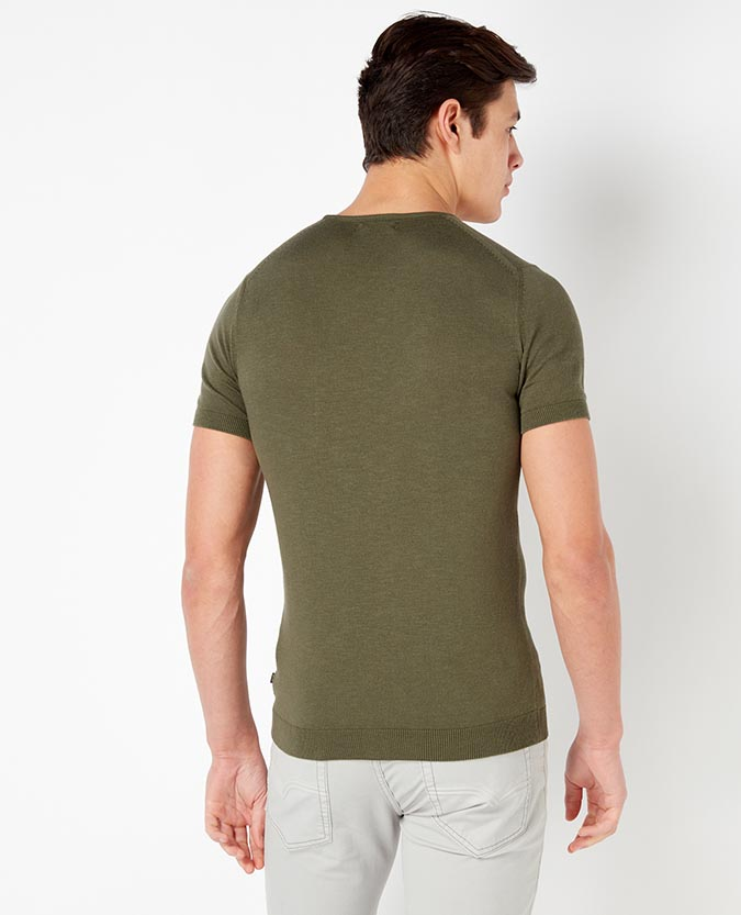 Tapered Fit Cotton T-Shirt