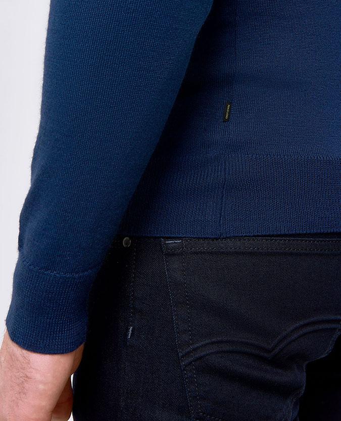 Slim Fit Merino Wool-Blend Half-Zip Sweater