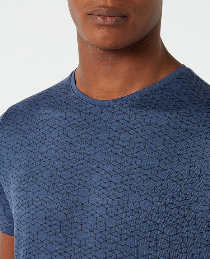 Tapered Fit Cotton-Blend T-Shirt