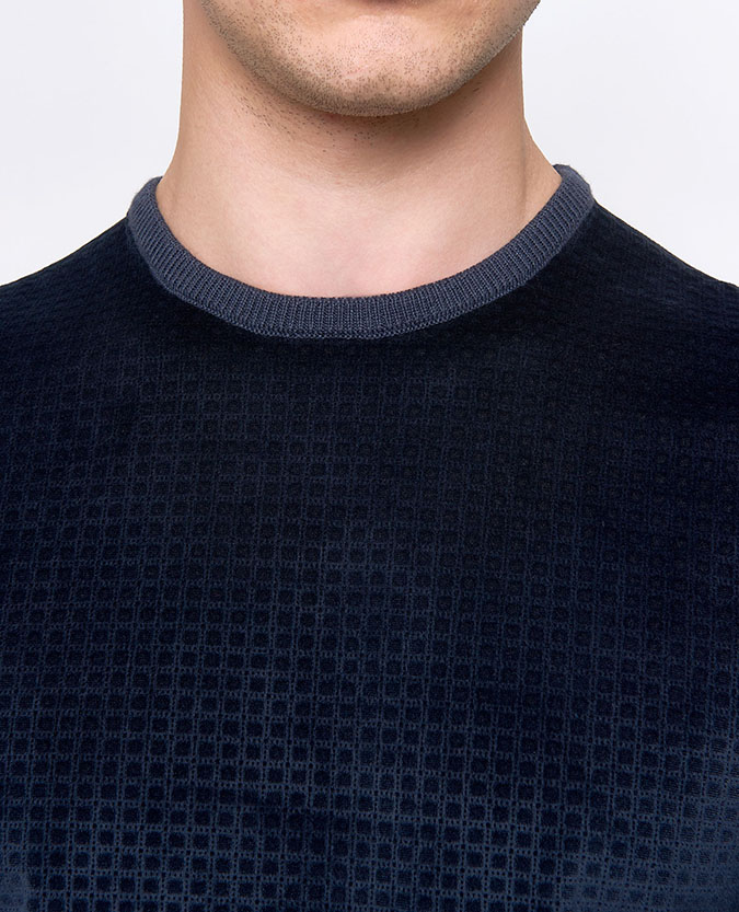 Tapered Fit Crew Neck Sweater