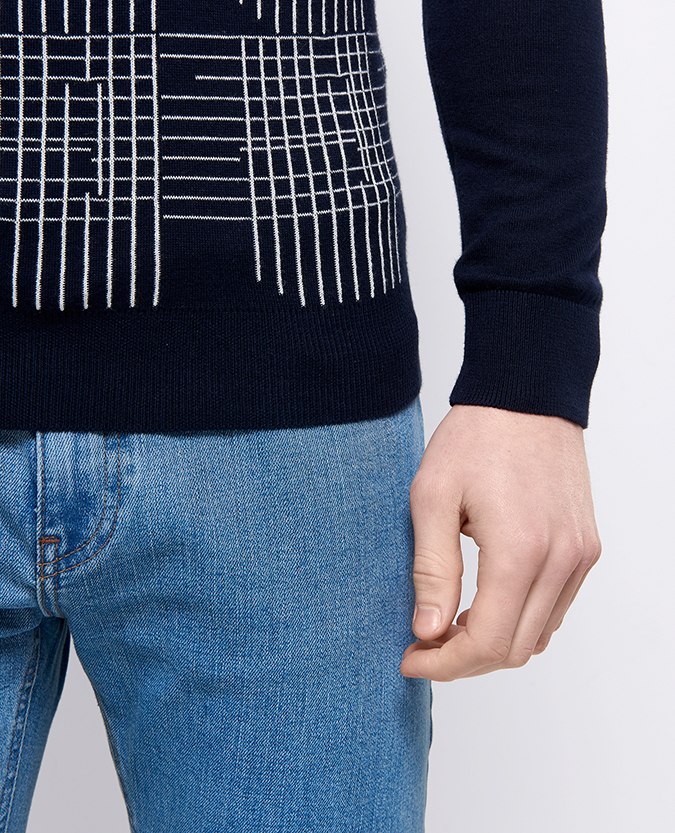 Slim Fit Cotton Crew Neck Sweater