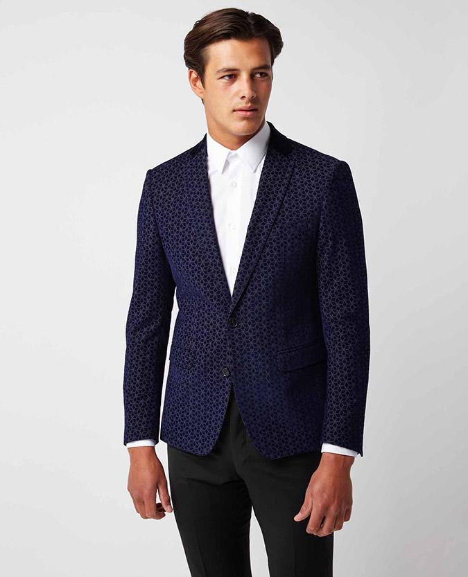 Slim Fit Wool-Blend Smoking Jacket