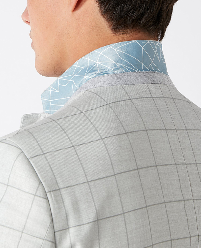 Slim Fit Checked Jacket