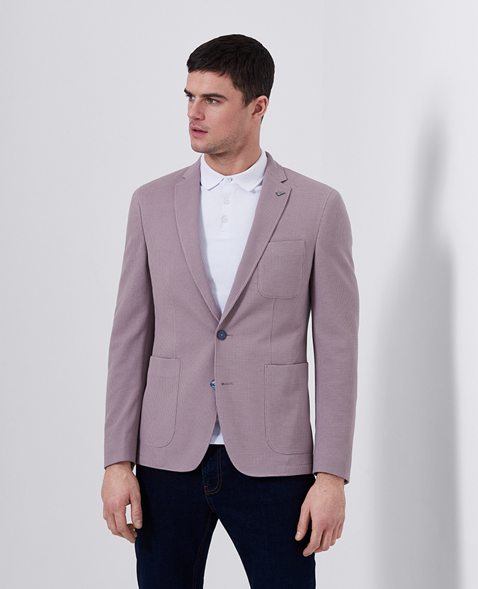 Slim Fit Cotton-Blend Jacket