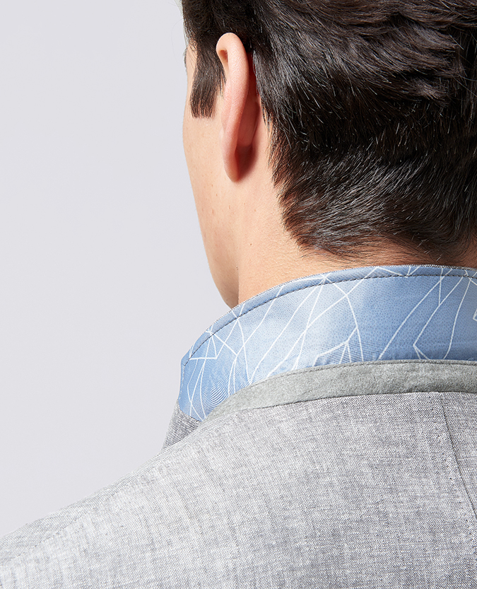 Slim Fit Linen-Blend Jacket