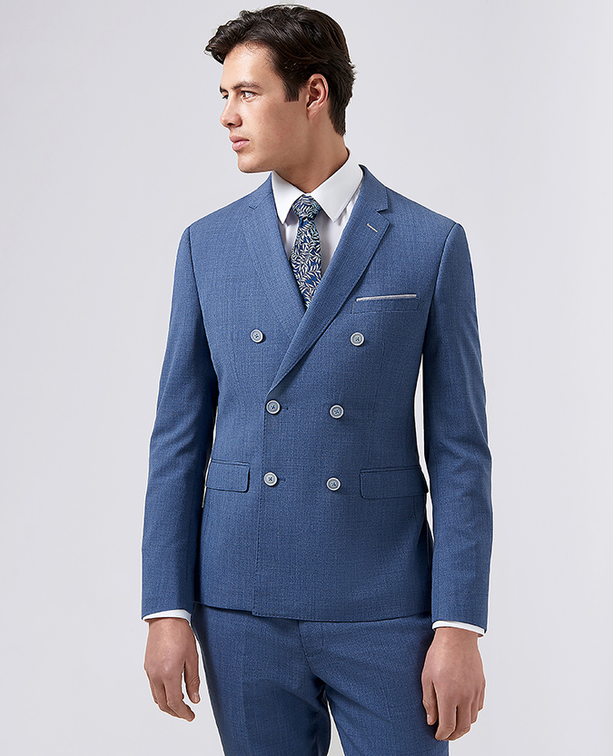 Slim Fit Wool-Rich Double Breasted 2 Piece Suit