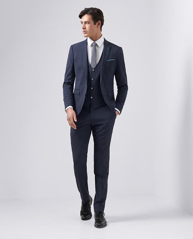 X-Slim Fit Wool-Blend Stretch 3 Piece Suit