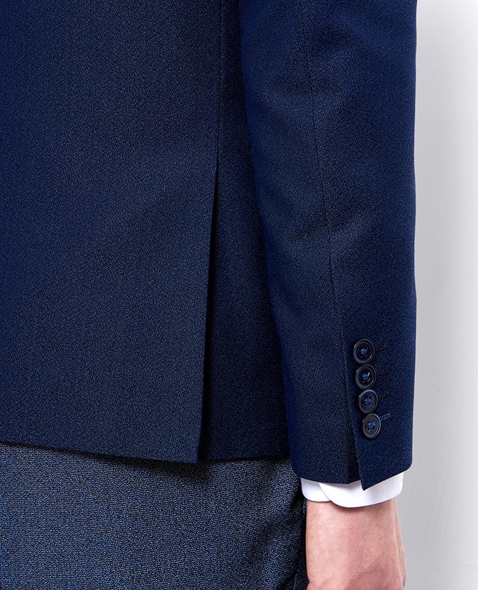 Slim Fit Wool-Rich 3 Piece Suit With Contrast Jacket