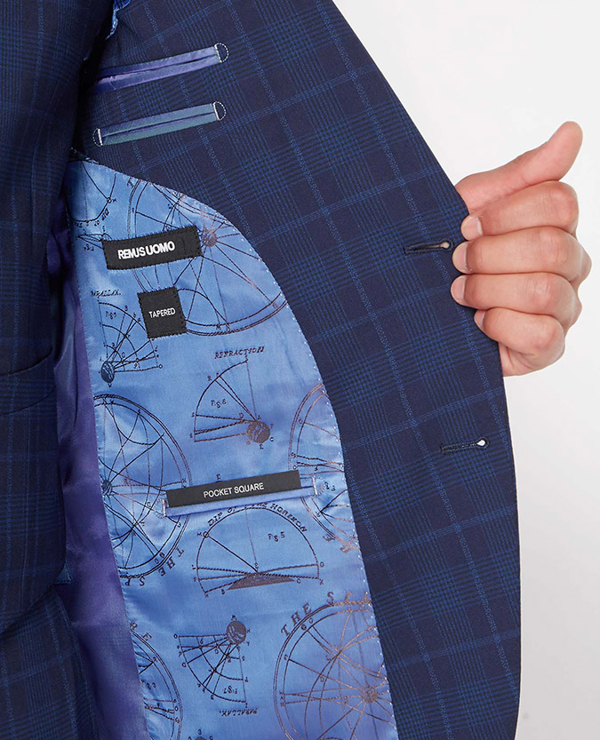 Tapered Fit Checked Wool-Rich Stretch Mix and Match Suit