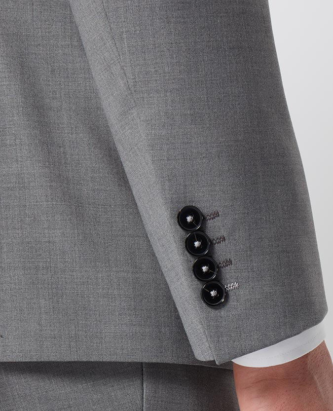 Tapered Fit Wool-Rich Mix and Match Performance Suit