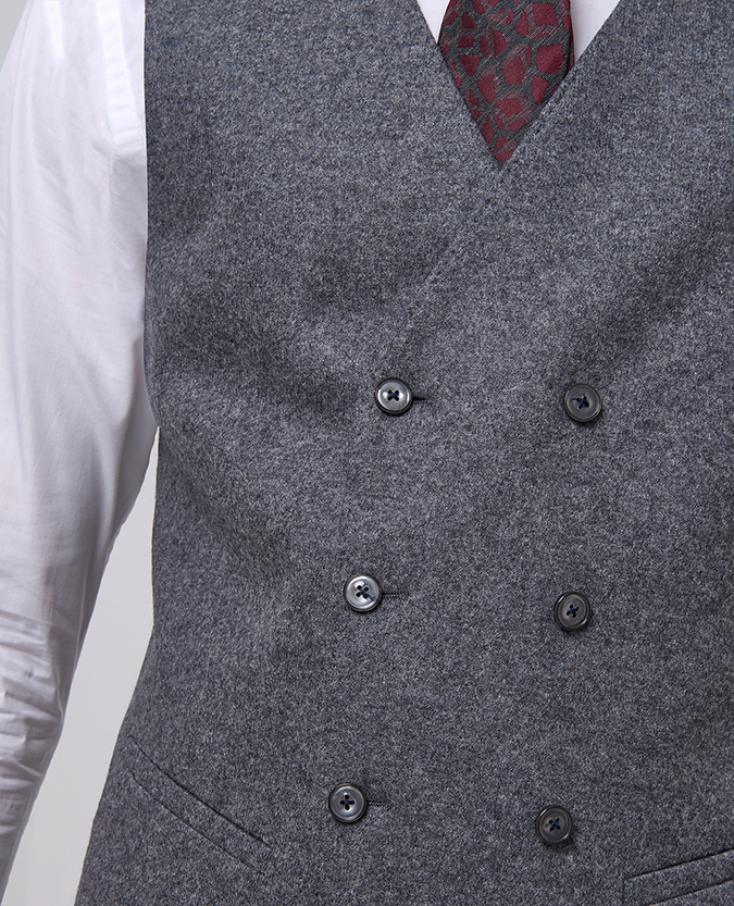 Slim Fit Wool-Rich Casual Suit Waistcoat