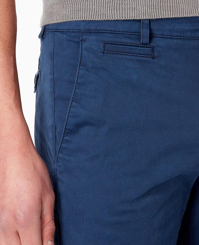 Slim Leg Cotton-Stretch Chino Shorts