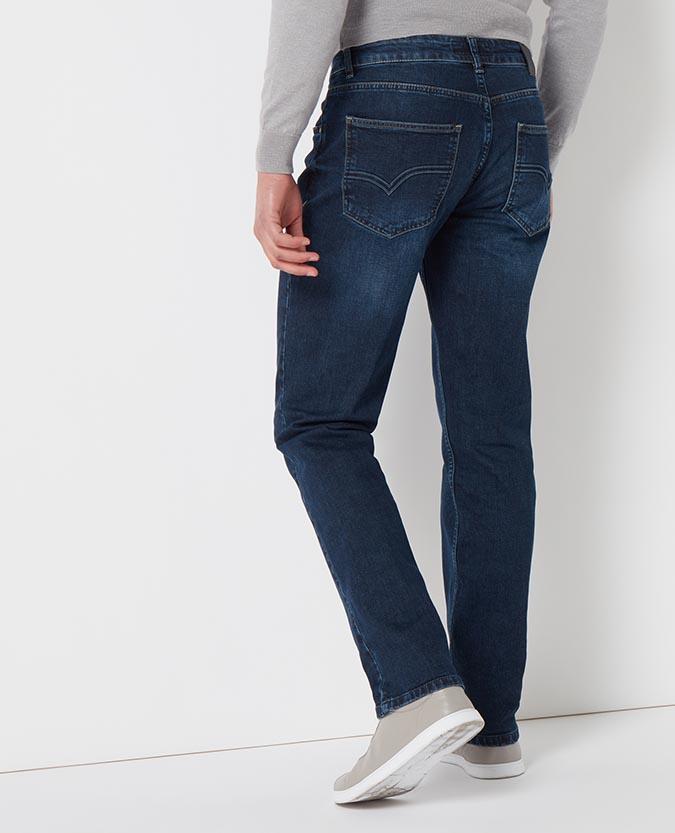 Straight Leg Cotton-Stretch Jean