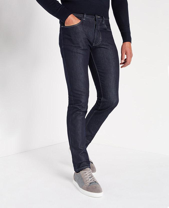 Slim Leg Rinse Washed Stretch-Denim Jean