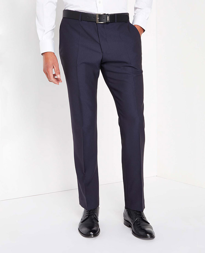 Tapered Fit Plain Trouser
