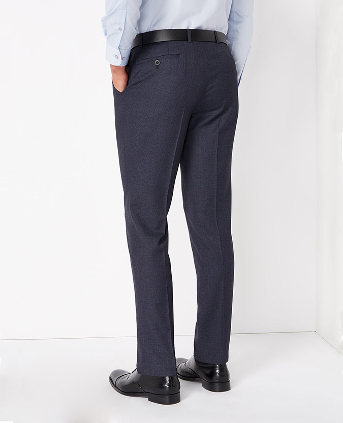 Slim Fit Checked Trouser