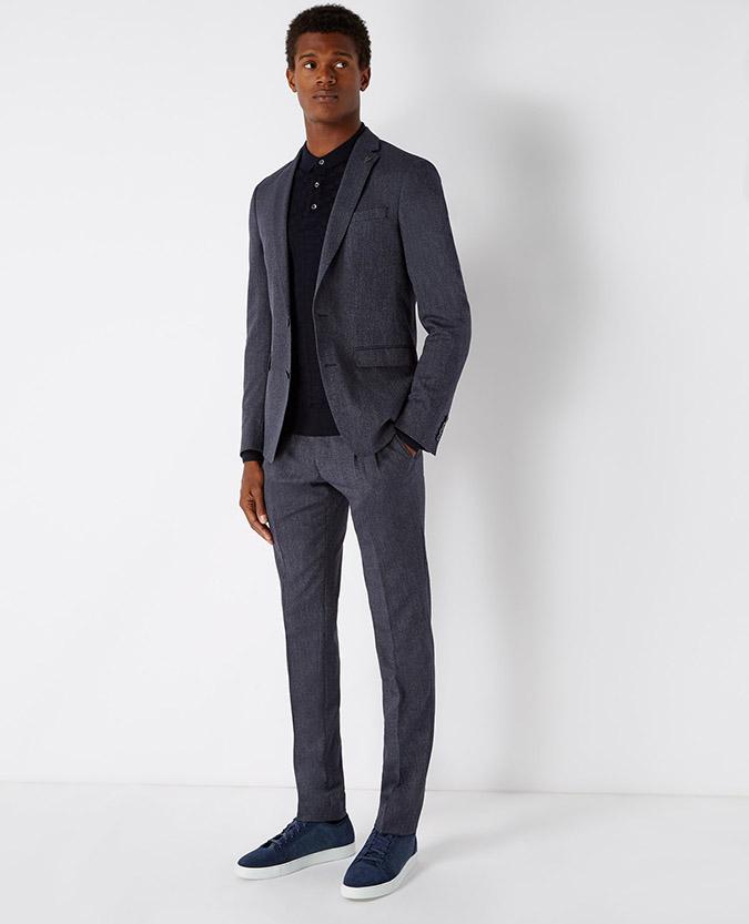 X-Slim Fit Double Pleat Trouser