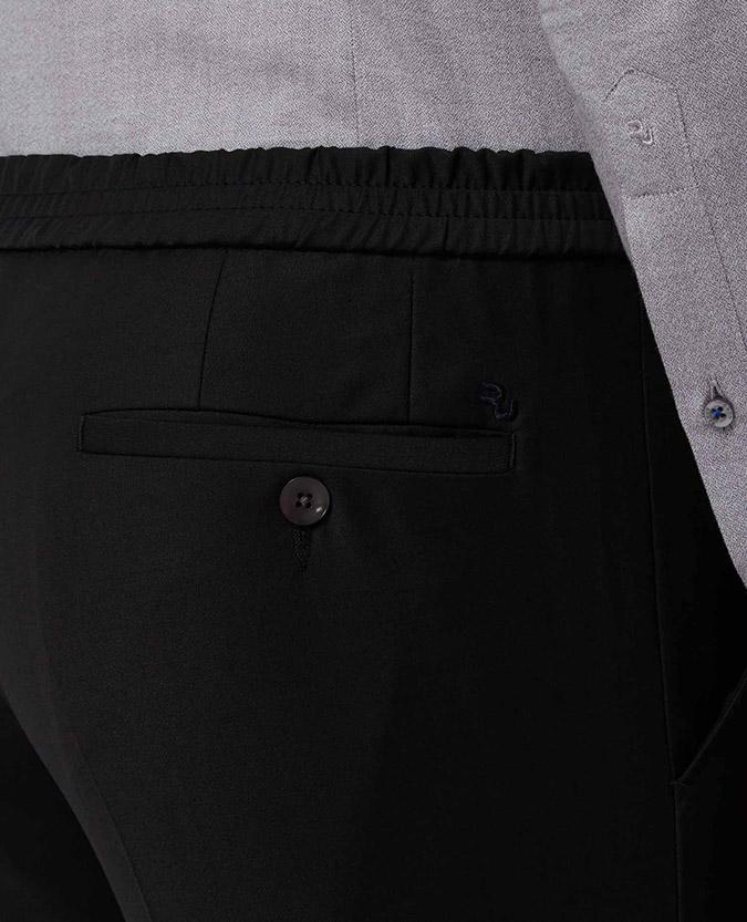 X-Slim Fit Elasticated Waist Suit Trouser