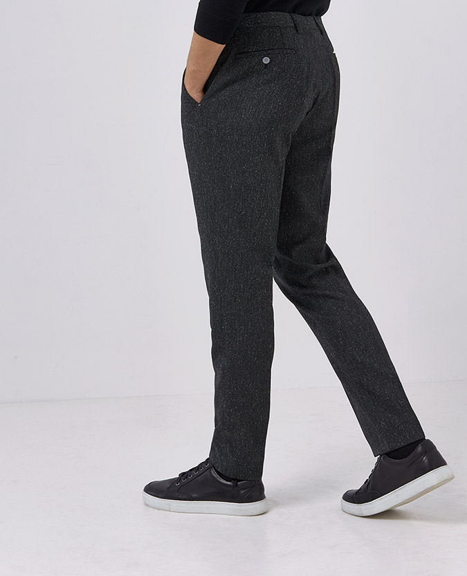 Slim Fit Stretch Tweed Trouser