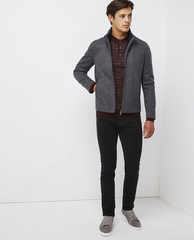 Slim Fit Casual Jersey Jacket