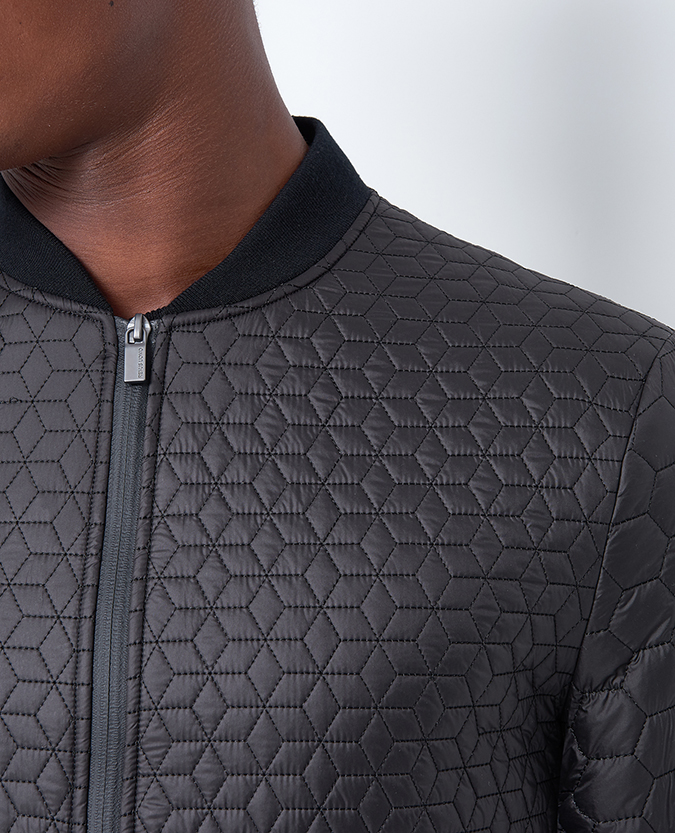 Slim Fit Lightweight Quilted Bomber Jacket