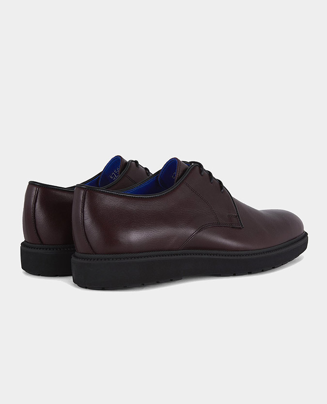 Leather Derby Wedge Shoe